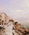 A View of Posilippo, Naples - Franz Richard Unterberger