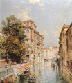 A View in Venice, Rio S. Marina - Franz Richard Unterberger