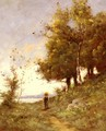 Femme Sur Un Chemin (Woman on a Path) - Paul Trouillebert
