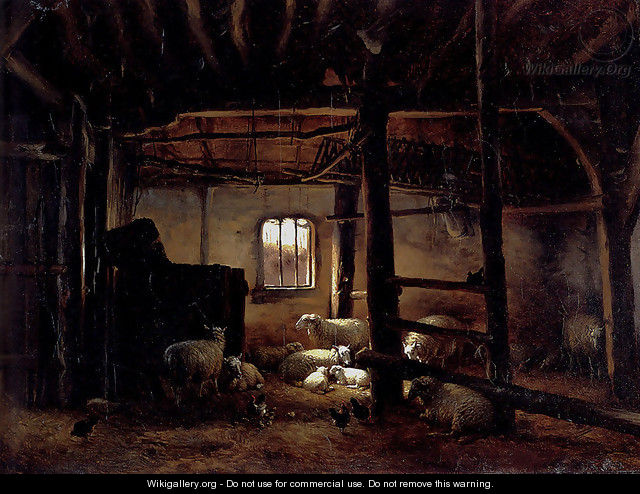 In The Stable - Eugène Verboeckhoven