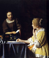 Lady with Her Maidservant Holding a Letter - Jan Vermeer Van Delft