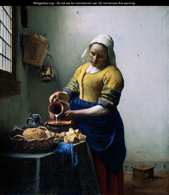 The Milkmaid - Jan Vermeer Van Delft