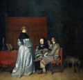 Gallant Conversation; known as The Paternal Admonition' - Gerard Ter Borch