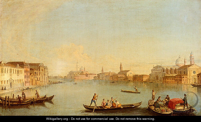 View Of San Giorgio Maggiore Seen From The South, Venice - Johann Richter