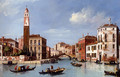 View Of The Entrance To The Cannareggio Canal With The Church Of San Geremia And The Palazzo Labia, Venice - William James
