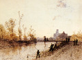 Fishing On The Banks Of A River - Eugène Cicéri