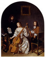 The Music Lesson - Caspar Netscher
