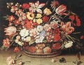 Basket of Flowers - Jacques Linard