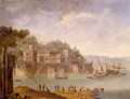 Harbour Scene With Ships By A Tower - Orazio Grevenbroeck