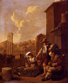 Peasant Family Having Bread And Wine, The Campo Vaccino, Rome, Beyond - Johannes Lingelbach