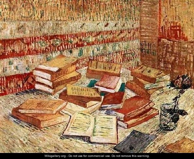 Still Life With French Novels And A Rose - Vincent Van Gogh