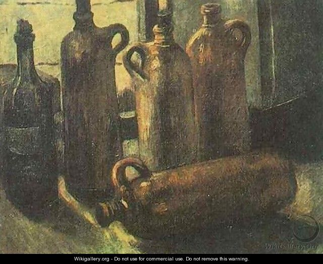 Still Life With Five Bottles - Vincent Van Gogh