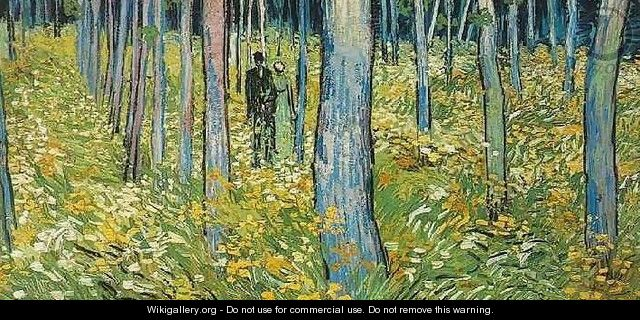 Undergrowth With Two Figures - Vincent Van Gogh