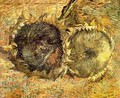 Two Cut Sunflowers II - Vincent Van Gogh