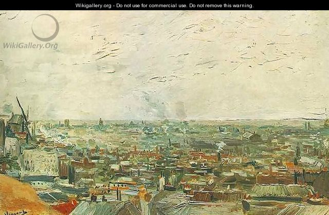 View Of Paris From Montmartre - Vincent Van Gogh