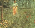 Woman Walking In A Garden A - Vincent Van Gogh