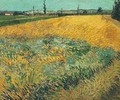 Wheat Field With The Alpilles Foothills In The Background - Vincent Van Gogh