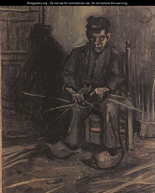 Peasant Making A Basket - Vincent Van Gogh