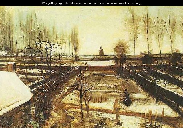 Parsonage Garden At Nuenen In The Snow The II - Vincent Van Gogh