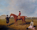 The Marquis Of Queensberry's King David With Jockey Up And Held By A Trainer At Newcastle - William Henry Davis