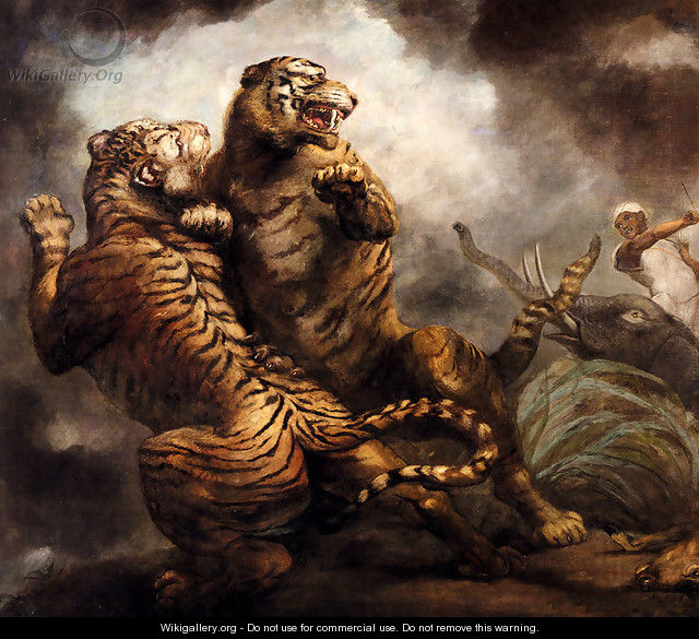 Tiger Hunting - James Northcote, R.A.