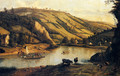 An Extensive River landscape, Probably Derbyshire, With Drovers And Their Cattle In The Foreground - Jan Siberechts