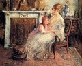 Mother And Daughter - Edward Verschaffelt
