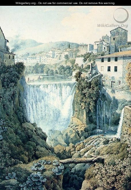 A Waterfall Outside An Italian Town - Filippo Giuntotardi