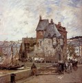 A French Harbour Town - Adrien Gabriel Voisard-Margerie