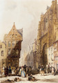 Figures On A Street In A Market Town, Belgium - Thomas Shotter Boys