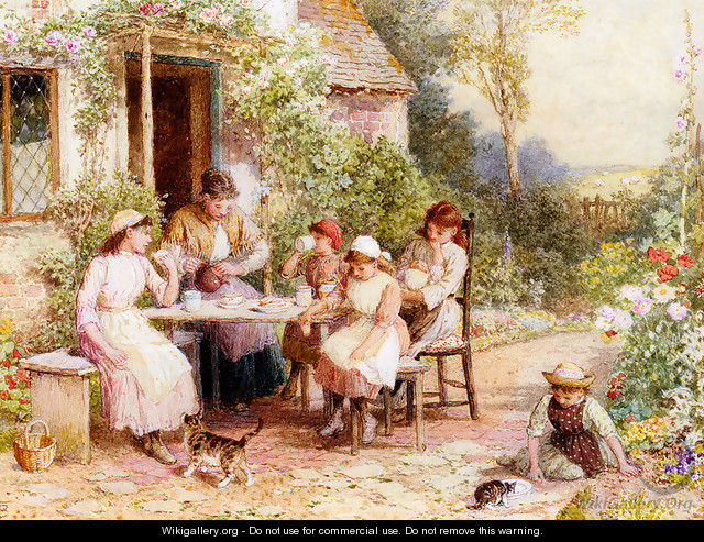 Tea Time - Myles Birket Foster