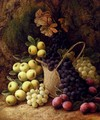 Still Life with Apples, Grapes and Plums - George Clare