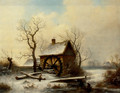 The mill in winter - George Augustsus Williams