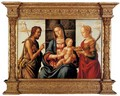 The Madonna and Child enthroned with Saints John the Baptist and Dorothy - Lazzaro Bastiani