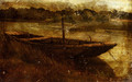 Study Of A Punt Moored At Twickenham - John Linnell