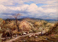 An Autumn Afternoon With Shepherd And Flock - John Linnell