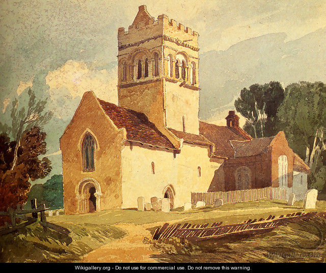 Gillingham Church, Norfolk - John Sell Cotman