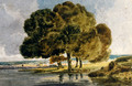Trees On A Riverbank - Thomas Girtin