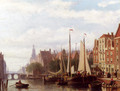 A Busy Day On The Canal - Johannes Frederik Hulk, Snr.
