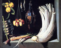 Still Life With Dead Birds, Fruit And Vegetables - Juan Sanchez Cotan