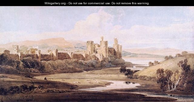 Castle Conway from the River Gyffin - Thomas Girtin