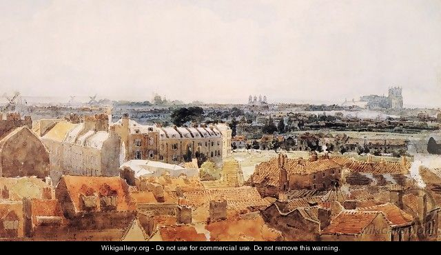 Study for the Eidometropolis: Westminster and Lambeth - Thomas Girtin
