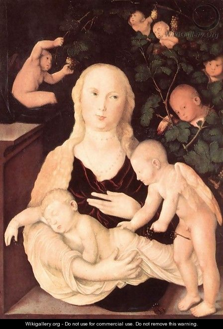 Virgin of the Vine Trellis - Hans Baldung Grien