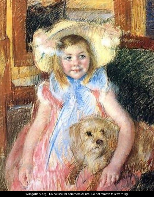 Sara and her Dog, c.1901 - Mary Cassatt