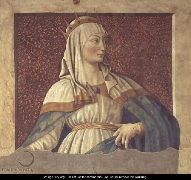 Queen Esther, from the Villa Carducci series of famous men and women, c.1450 - Andrea Del Castagno