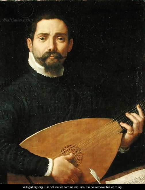 Portrait of a Lute Player, c.1593-94 - Annibale Carracci