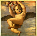 A Cherub Carrying Flowers - Annibale Carracci