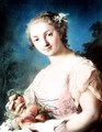 Summer: a girl holding peaches - Rosalba Carriera