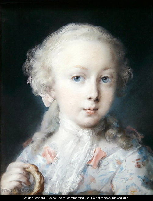 Portrait of a Girl with a Bussola, 1725 - Rosalba Carriera