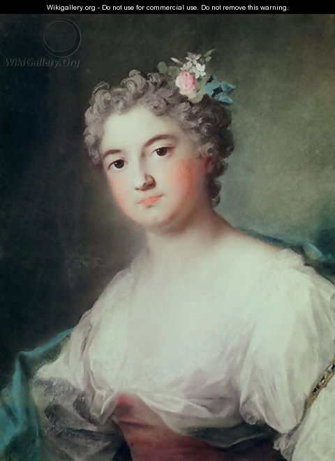Portrait of Mademoiselle de Clermont, aged 23 - Rosalba Carriera